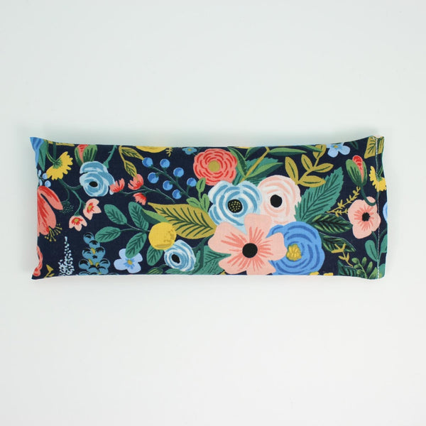Navy Floral Eye Pillow