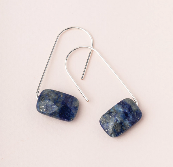 Lapis Float Earring
