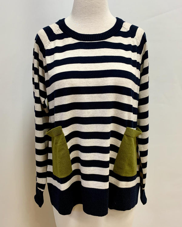 Navy Mix Pullover