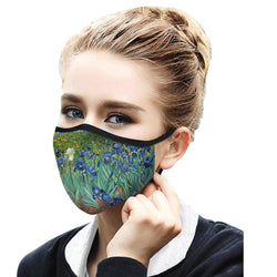 Van Gogh Irises Face Mask