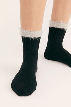 Ebony Fringe Border Sock