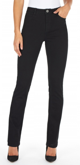 Petite FDJ Black Denim Olivia Straight Jean