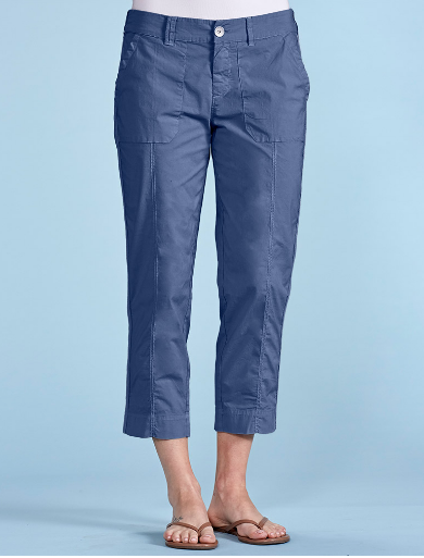 Navy Pocket Capri