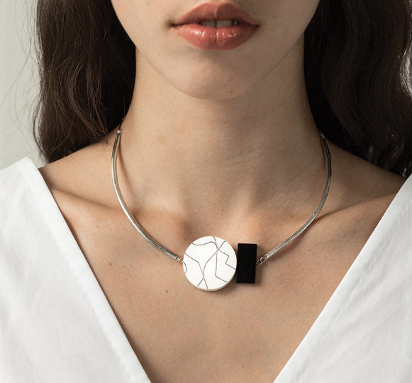 Black & White Geo Necklace