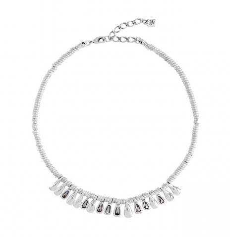 Glamatic Crystal & Silver Necklace