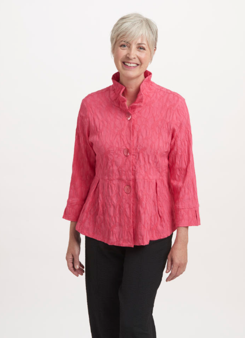 Coral Stretch Jacquard Jacket