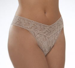 Taupe Onesize Lace Thong