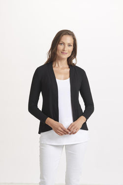 Open Back Pleat Jacket