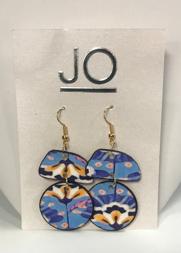 Floral/Stripe Reversible Earring