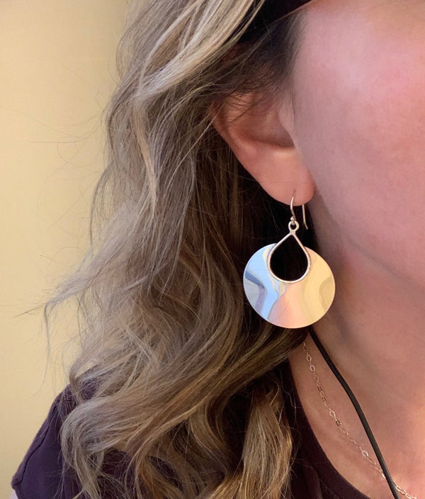 Large Sterling Cutout Earrings