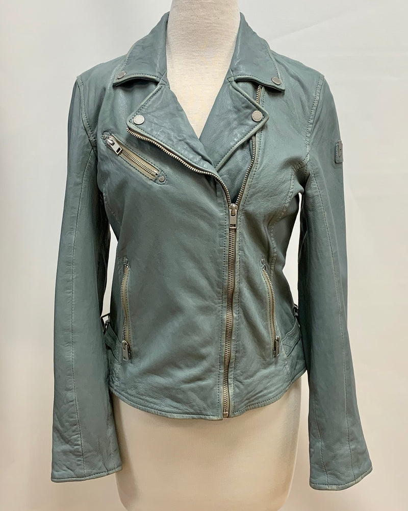 Sky Distressed Leather Jacket