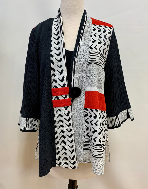 Tribal Crepe Jacket