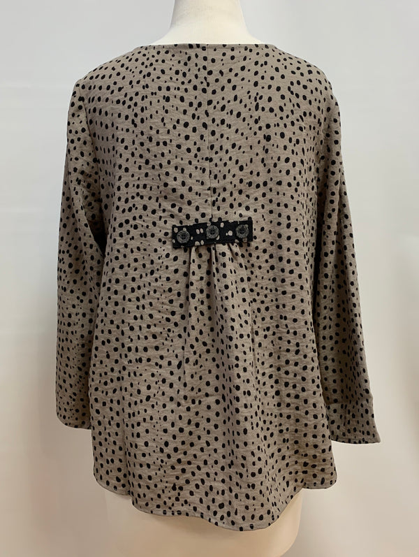 Taupe Dot Jacket