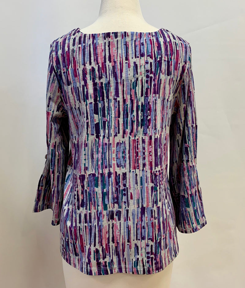 Purples Dashes Swing Top