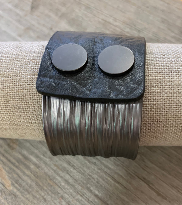 Gunmetal Statement Bracelet