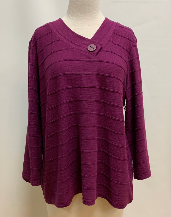Amethyst Tuck Pleat Top