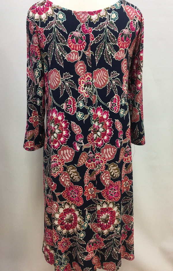 Pink Batik Flower Swing Dress