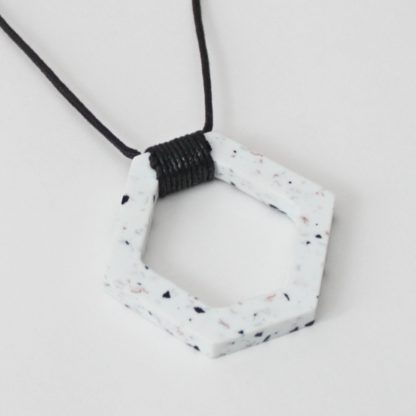 Marble Hex Necklace