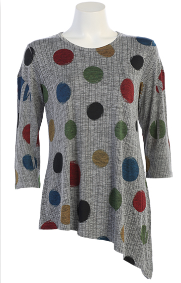 Slinky Dots Asymetric Tunic
