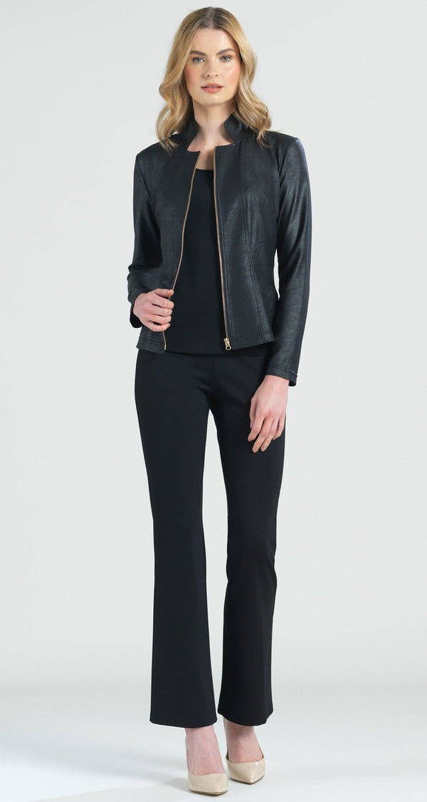 Black Liquid Leather Jacket