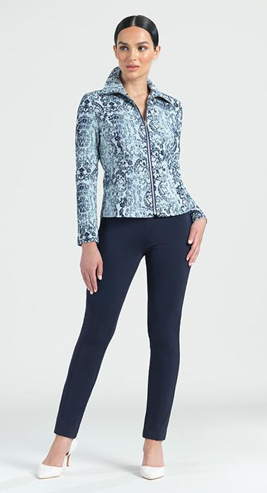 Paisely Stretch Zip Jacket