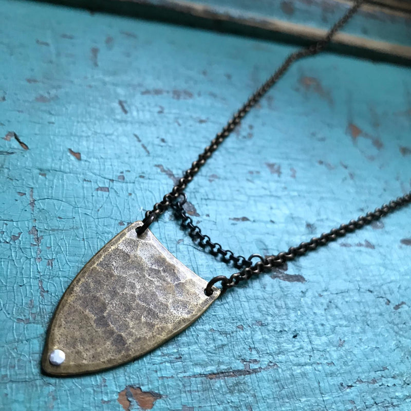 Brass Spear Necklace