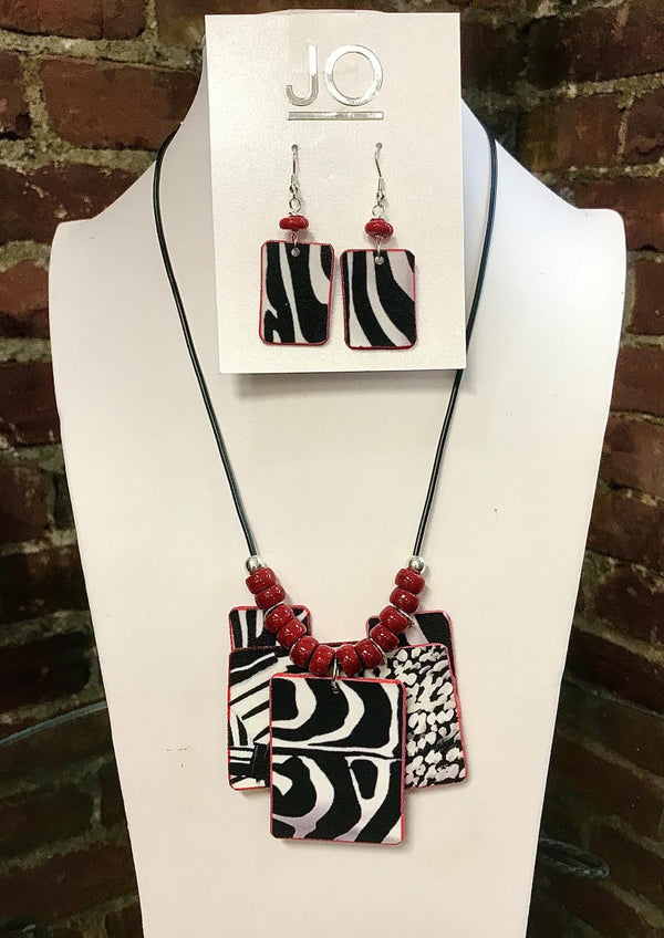 Zebra Mix Jewelry Set