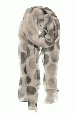 Grays Watercolor Dot Scarf
