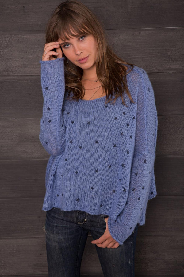 Denim Stars Sweater