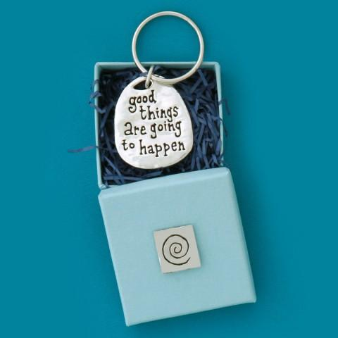 Good Things Quote Keychain