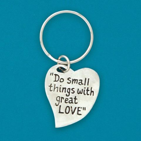 Do Small Things Quote Keychain