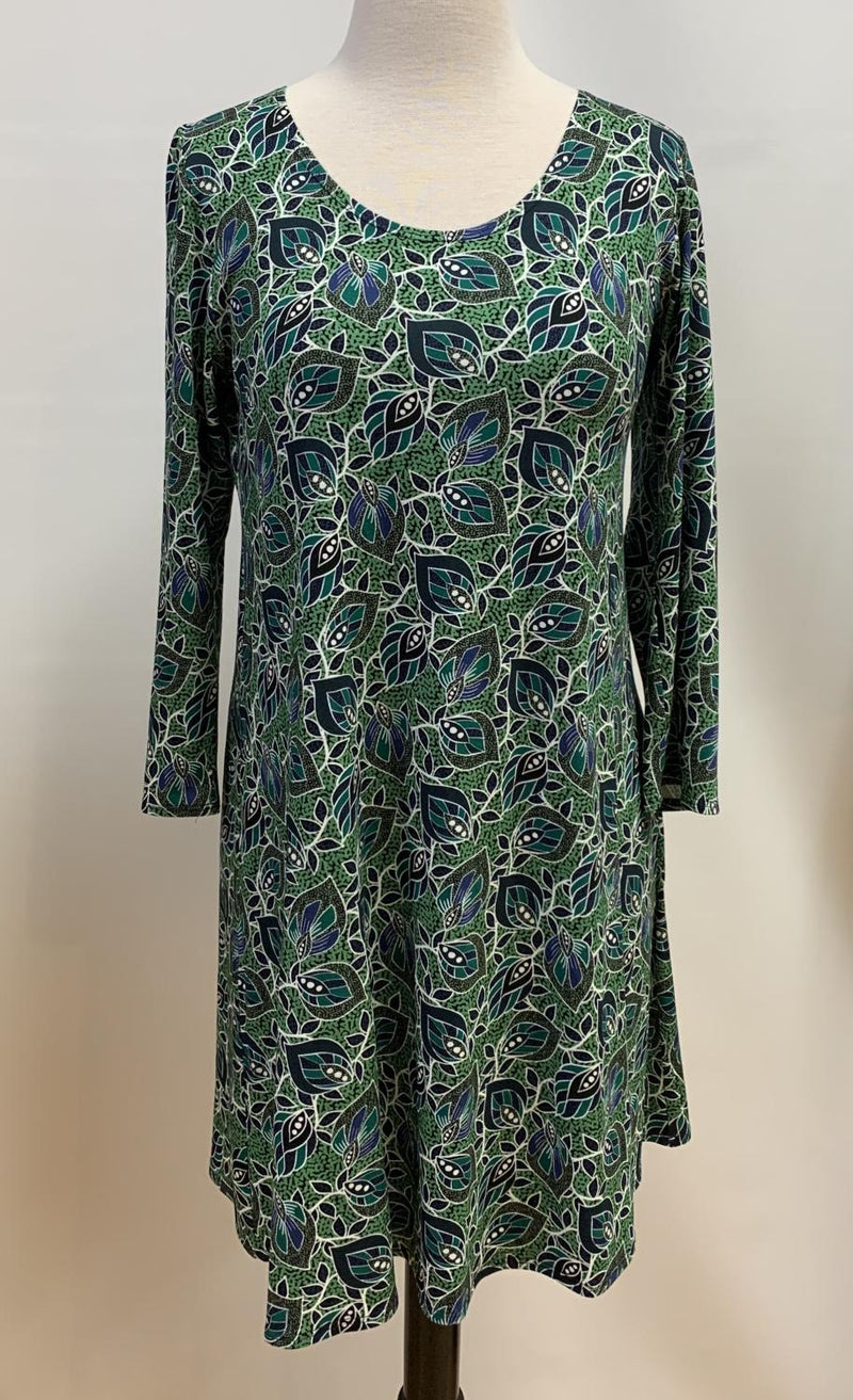 Grass Leaves Easy Dress
