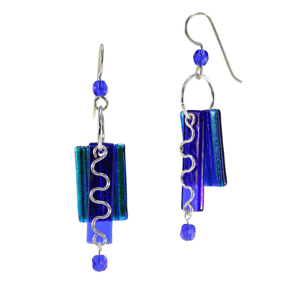 Electric Cobalt Glass Earring