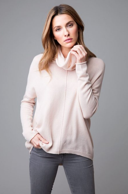 Cashmere Ballet Pink Exposed Seam Popover