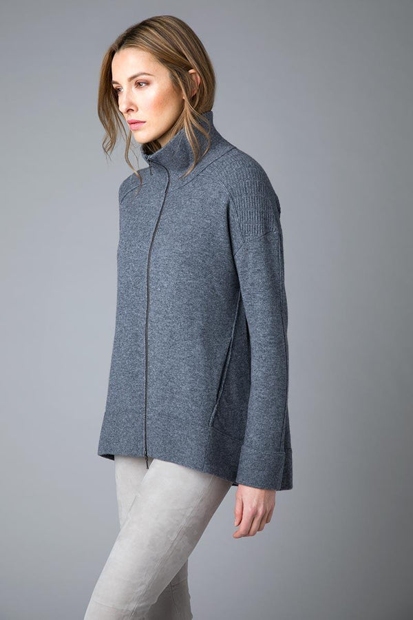 Cashmere Zip Seam Jacket