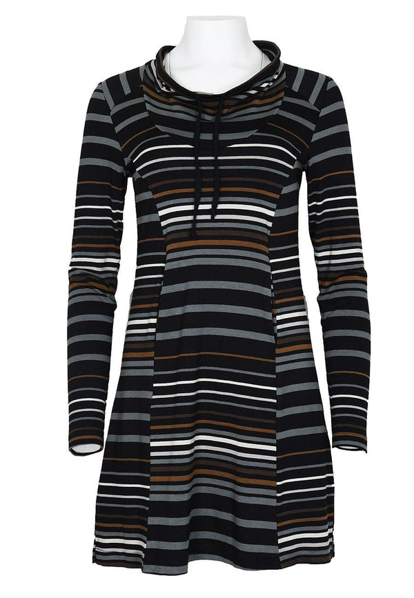 Neutral Stripe Cowl Tunic