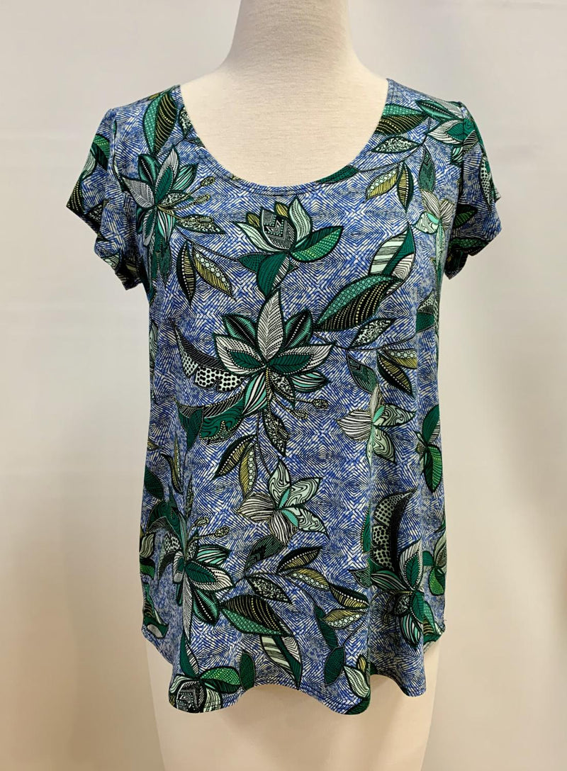 Blue Green Palm Easy Tee