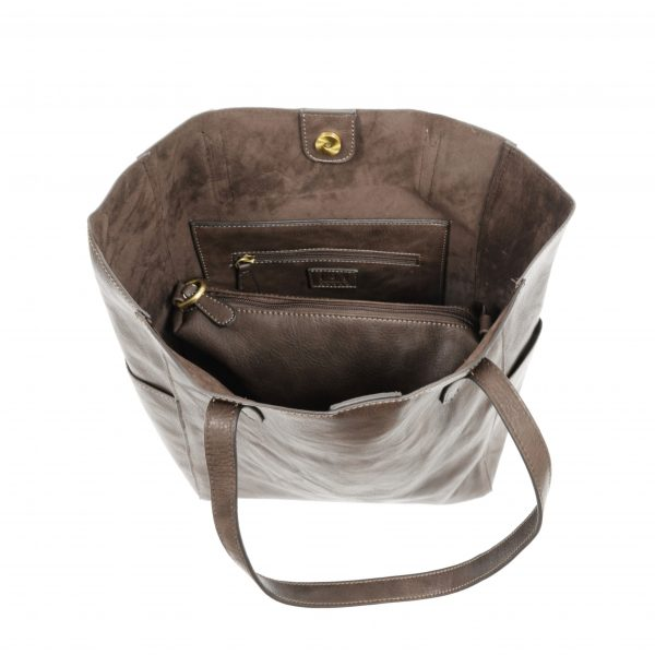 Taupe 2 in 1 Tote
