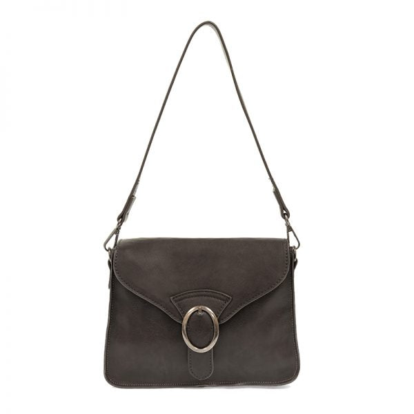 Charcoal Convertible Buckle Handbag