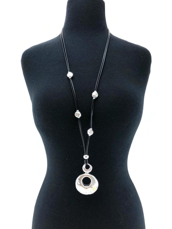 Open Embossed Ring Necklace