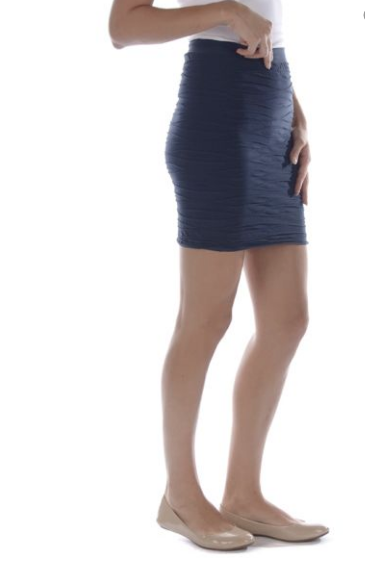 Textured Navy Skirt Onesize