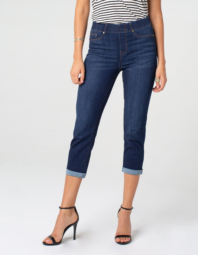 Wide Cuff Denim Capri