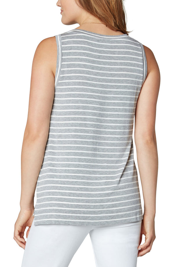 Striped Heather Grey Tank