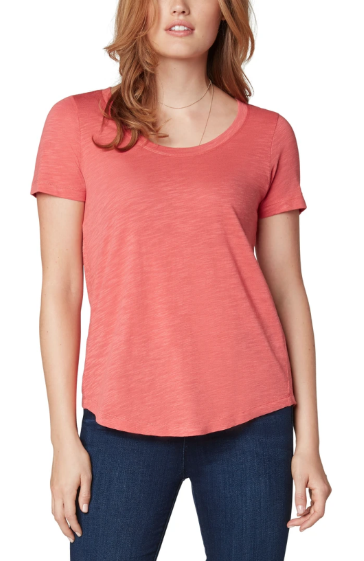 Coral Scoop Neck T-Shirt