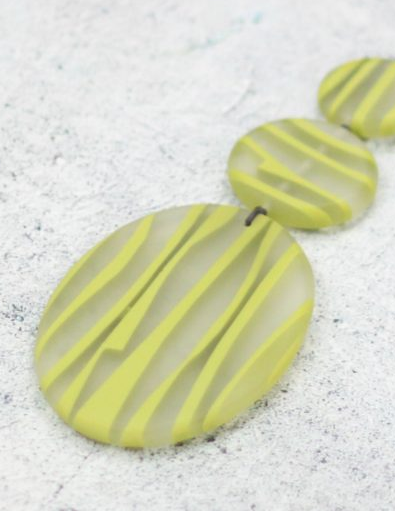 Resin Chartreuse Grass Necklace