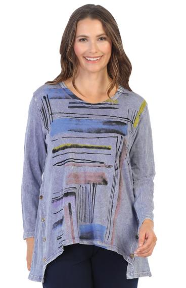 Linear Mineral Wash Tunic