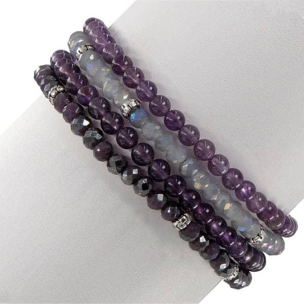 Amethyst & Crystal Meditation Set