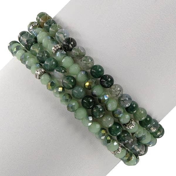 Moss Agate & Crystal Nature Set