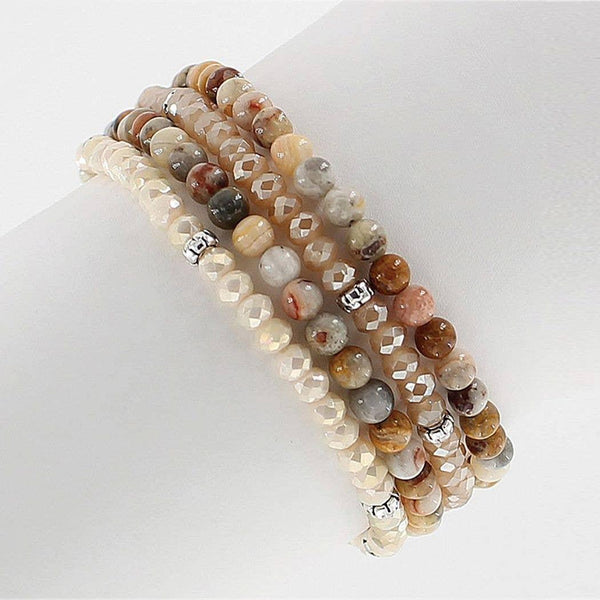 Agate & Crystal Bracelet-Laughter