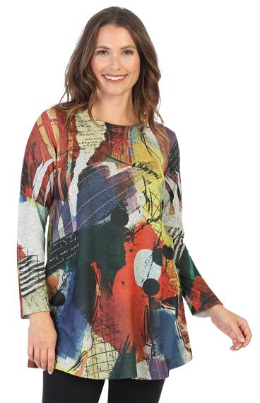 Plus Color Mix Tunic